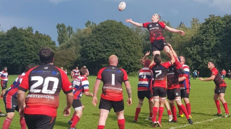 London Welsh in action against Watford in the Herts & Middlesex 1 division