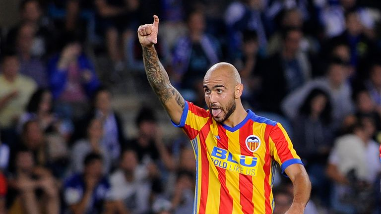 Former West Ham striker Simone Zaza has been starring for Valencia in Spain