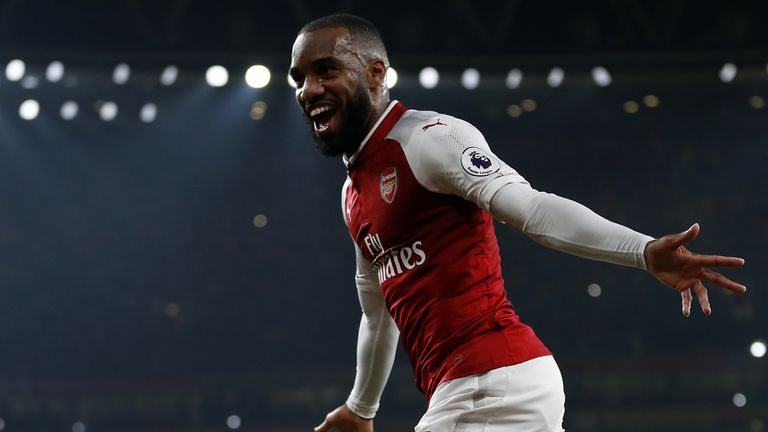 Alexandre Lacazette's goals on Monday Night Football sealed a quirky stat