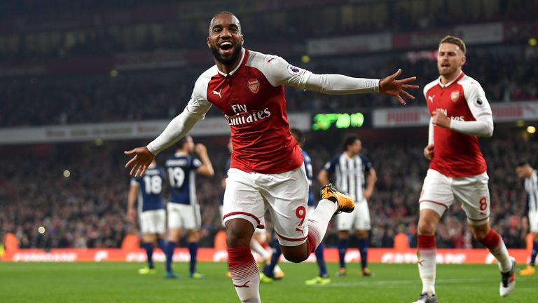 Lacazette scored his third Premier League goal at the Emirates with the opener against West Brom