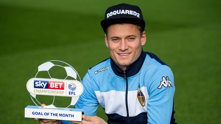 Ezjgan Alioski won the August Goal of the Month award for the Sky Bet Championship