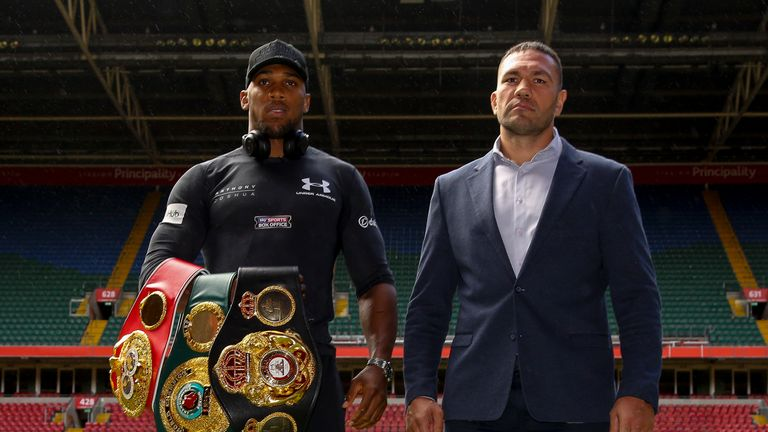 Anthony Joshua will defend his world titles against Kubrat Pulev in Cardiff