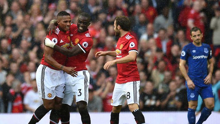 Antonio Valencia goal celeb, Manchester United v Everton, Premier League