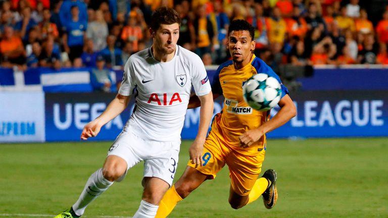 Tottenham beat Apoel 3-0 in the reverse fixture in September
