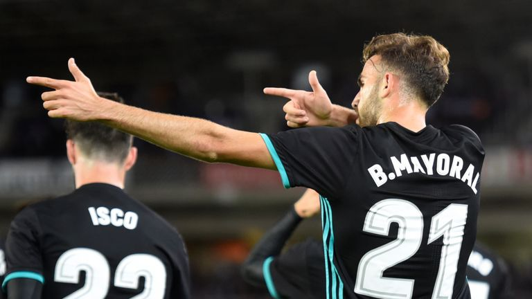 Borja Mayoral scored his first Real goal