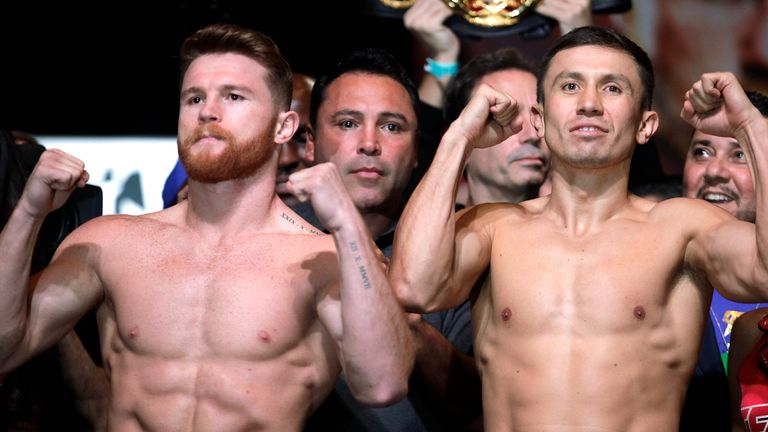 Alvarez (left) was due to face Gennady Golovkin in May