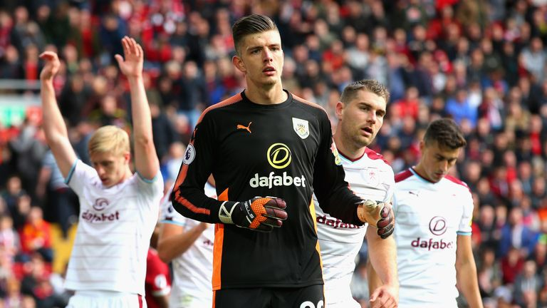 Nick Pope starred between the sticks for Burnley last season