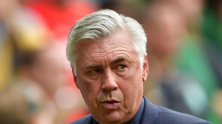 Coach Carlo Ancelotti of Bayern Muenchen
