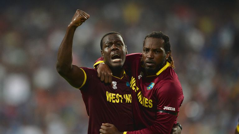 Carlos Brathwaite (left) will captain Windies in the charity T20 match at Lord's on May 31