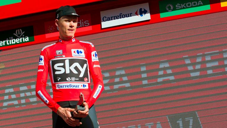 Chris Froome won the red jersey at this year's Vuelta