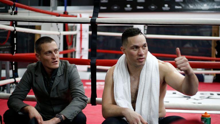 Joseph Parker with David Higgins
