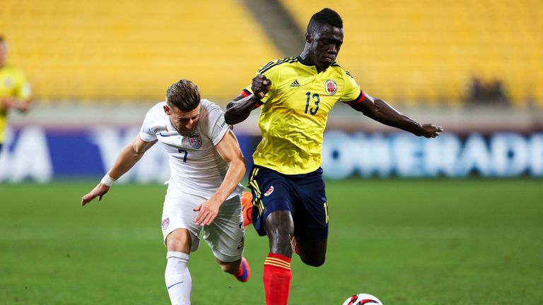 Davinson Sanchez played for Colombia at the U20 World Cup in 2015