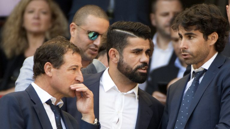 Diego Costa watched from the stands as Atletico beat Sevilla