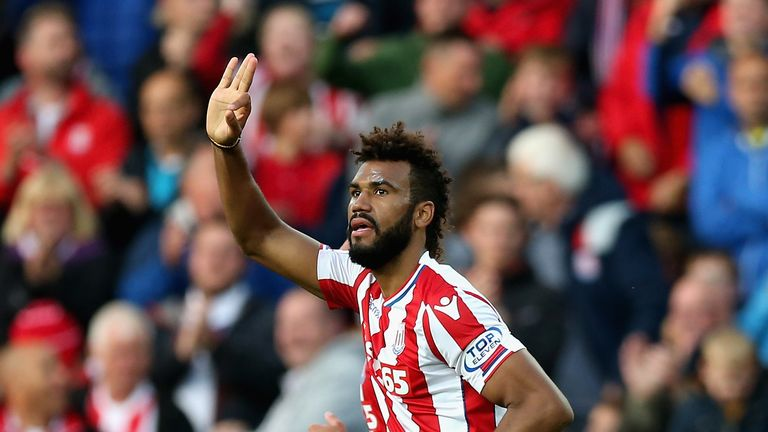 Eric Maxim Choupo-Moting scored twice for Stoke