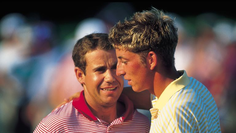 Jamie Elson halved his match with Erik Compton in the Sunday singles
