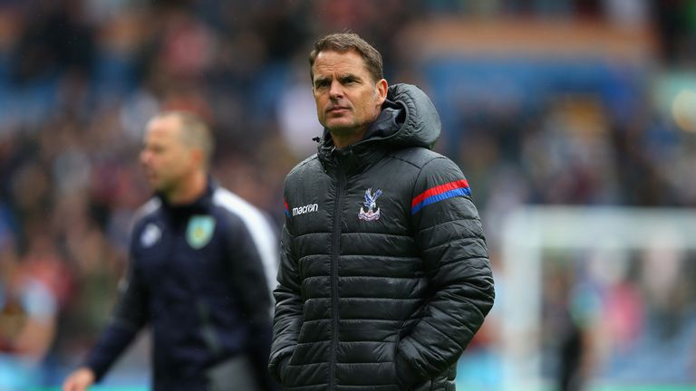 Frank de Boer, Manager of Crystal Palace looks deject