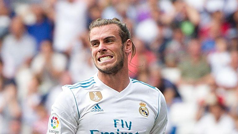 MADRID, SPAIN - SEPTEMBER 09: Gareth Bale of Real Madrid CF reacts during the La Liga match between Real Madrid and Levante at Estadio Santiago Bernabeu on