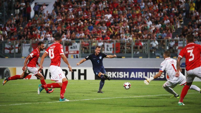 Harry Kane scored England's 53rd-minute opener against Malta