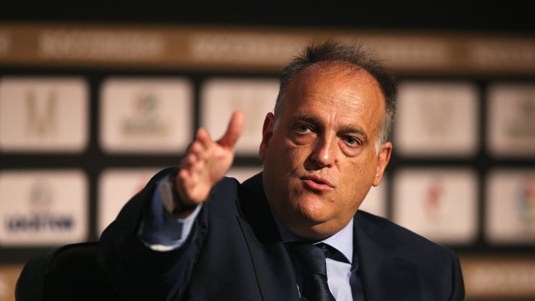 Javier Tebas launched an attack on Man City and PSG's spending on Tuesday