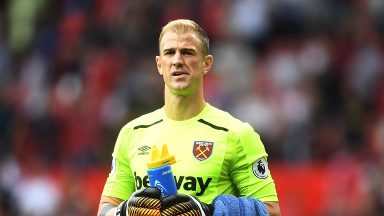 Joe Hart has conceded 10 goals in three matches for West Ham