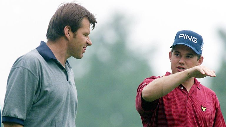 Faldo played a number of Ryder Cup matches alongside Westwood