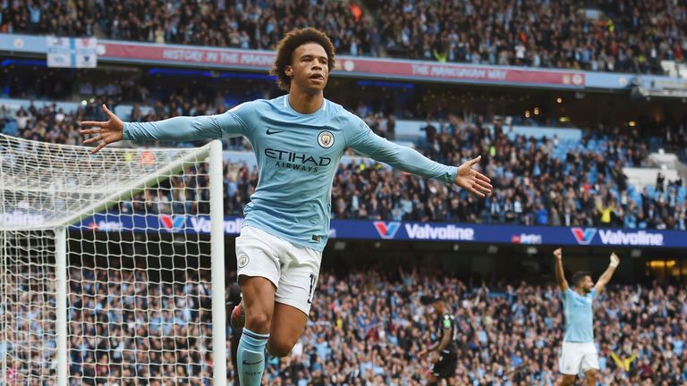 Sane has scored seven goals this season under Pep Guardiola