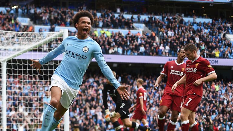 Leroy Sane scored twice in City's 5-0 win in September
