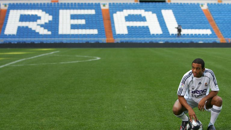 Real Madrid's new signing - 18-year-old Marcelo - is presented to the media in 2006