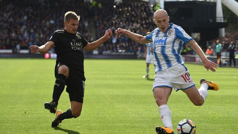 Aaron Mooy was in impressive form for Huddersfield against Leicester