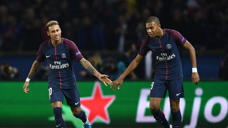 Mbappe played a role in two of PSG's three goals against Bayern