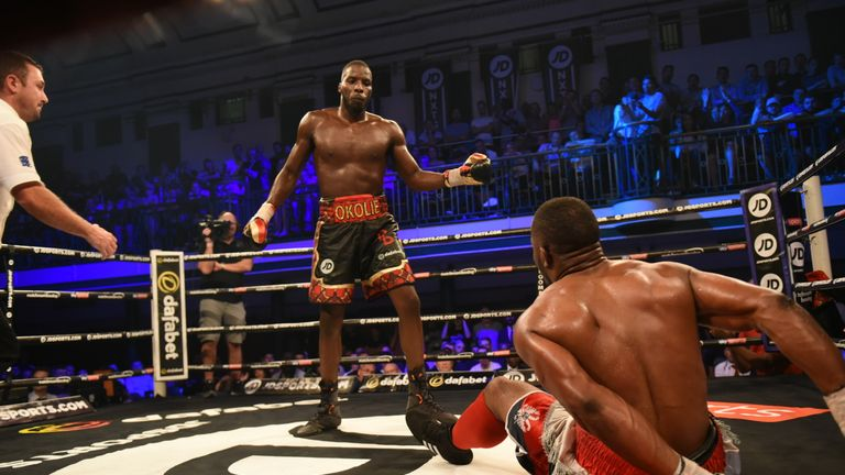 Okolie did have his man on the canvas in the fourth