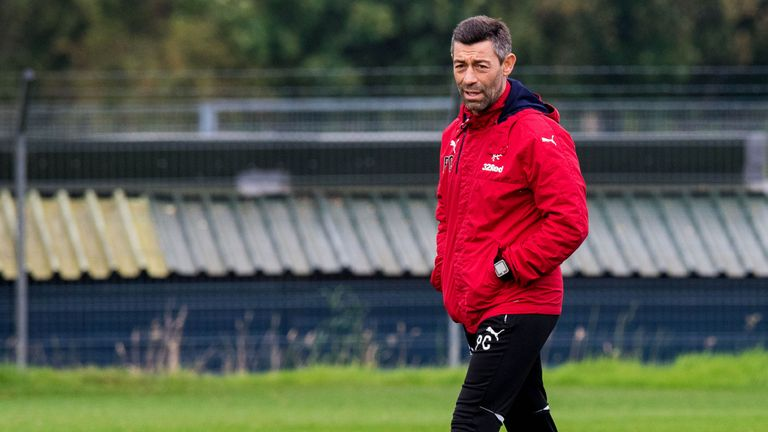 Rangers manager Pedro Caixinha has been working on defensive drills in training