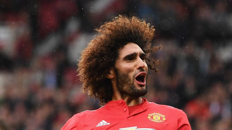 Marouane Fellaini his second and Manchester United's third