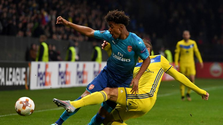 Reiss Nelson impressed for Arsenal at right wing-back