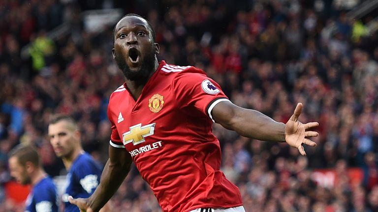 Romelu Lukaku scored for Manchester United against Everton