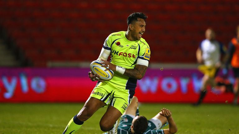 Denny Solomona wrapped up his hat-trick in the first half for Sale