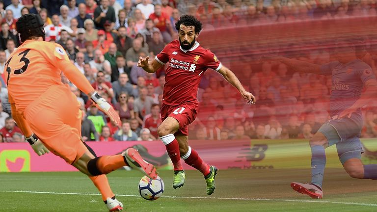 Mo Salah is one of Liverpool's fast attackers