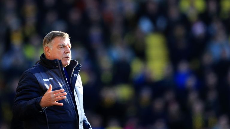 Sam Allardyce during the Premier League match between Watford and Crystal Palace on December 26, 2016