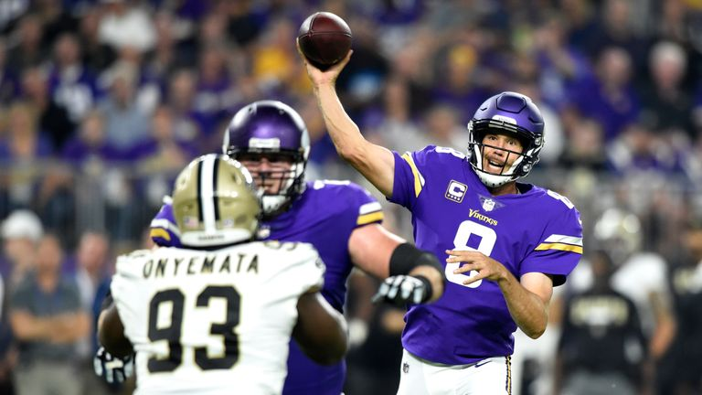 Sam Bradford was the Vikings starter at QB for Week One but has struggled with injury since