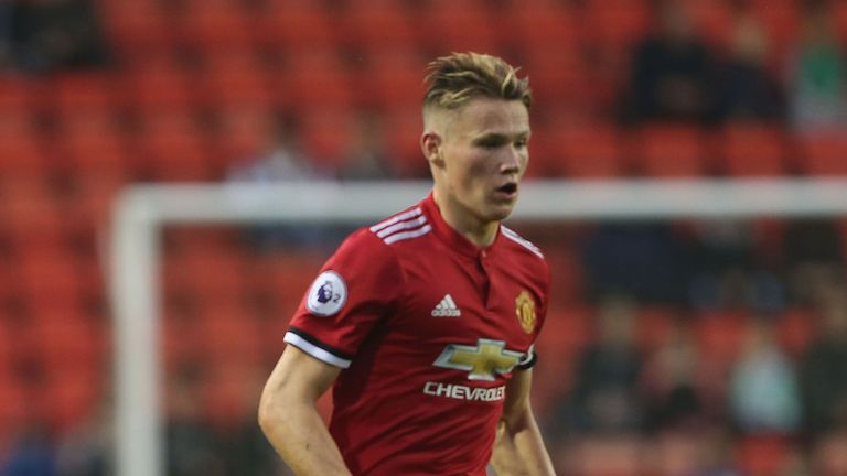 Scott McTominay in action for Manchester United U23s