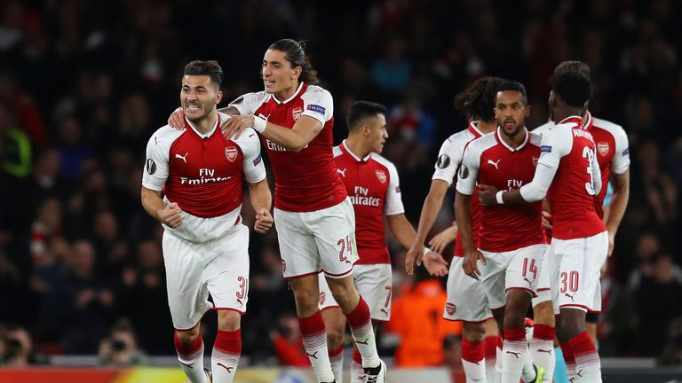 Arsenal won their opening Europa League game 3-1 against Cologne