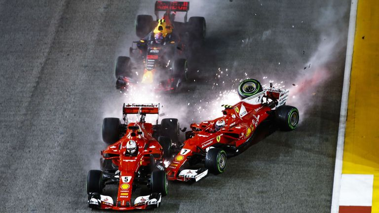Sparks flew at the start of last year's race as the two Ferraris and Max Verstappen came together