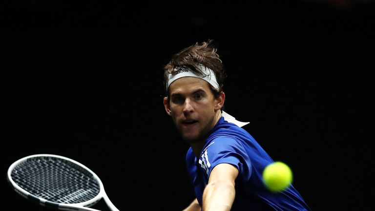 Dominic Thiem appeared for Europe at last month's inaugural Laver Cup
