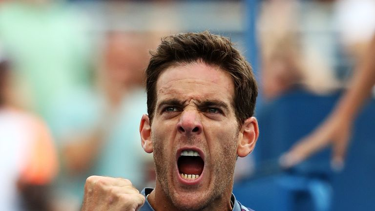 Juan Martin del Potro defended his Stockholm Open title to propel himself into contention for the season finale
