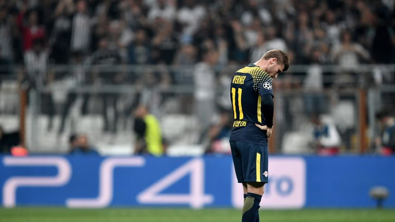 Timo Werner was forced to wear ear plugs in the match between Besiktas and RB Leipzig