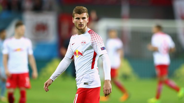 Timo Werner in action for RB Leipzig