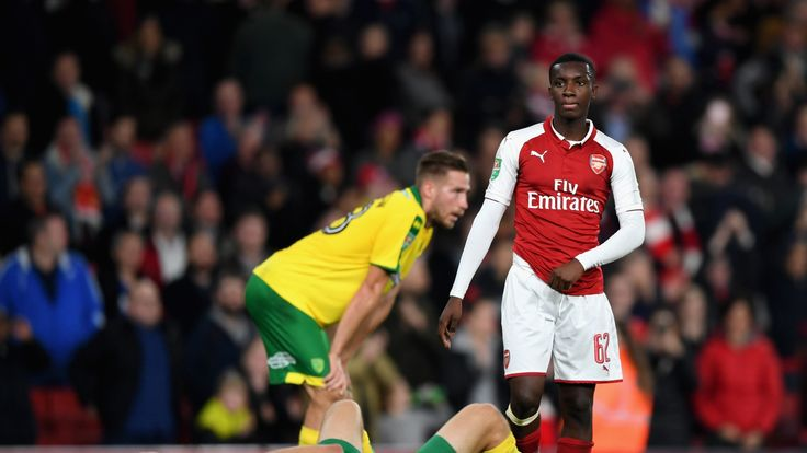 Eddie Nketiah was Arsenal's two-goal hero in the Carabao Cup Fourth Round match against Norwich City