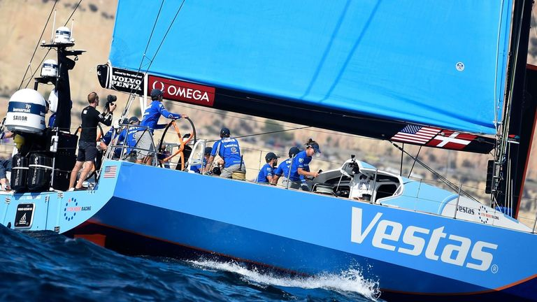 Leg 1 winners Vestas 11th Hour Racing came home second