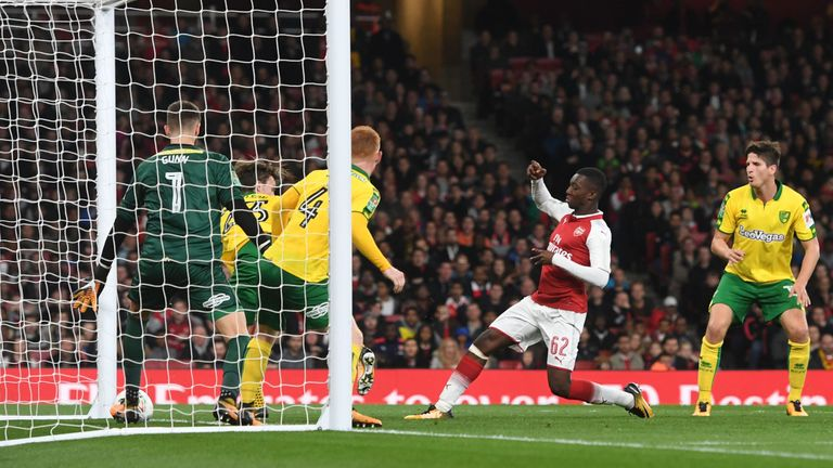 Nketiah scoring an equaliser just 15 seconds after coming off the bench