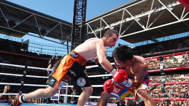 Horn caused a huge shock against Pacquaio in Australia